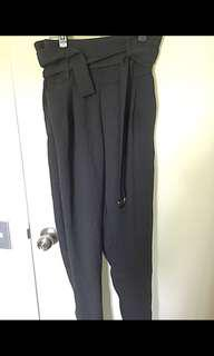 High waisted belted pants size small /8
