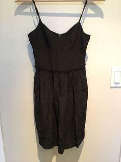 Aritzia silk black dress size 0