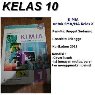 Buku KIMIA ERLANGGA untuk kelas X. Unggul Sudarmo. Kurikulum 2013