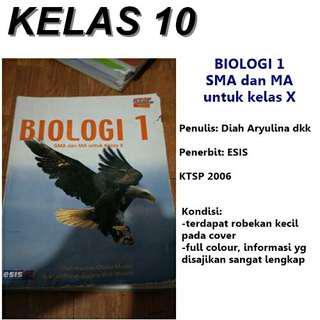Buku BIOLOGI 1 ESIS untuk SMA kelas X. . KTSP 2006 ORIGINAL