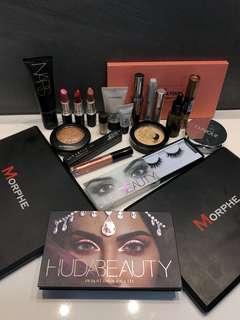 Huda beauty, Anastasia Beverly Hills, nars, mac, Benefit etc