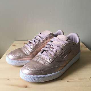 Reebok rose gold sneakers