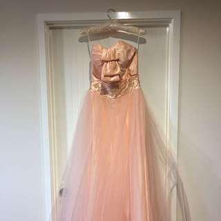 Peach pink Formal Dress