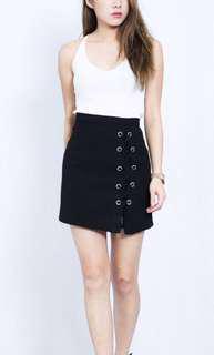 Black shoe lace skirt