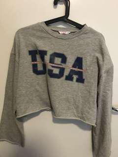 USA logo sweatshirt size s