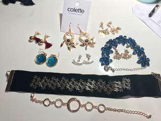 Earrings bracelets bundle