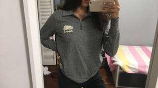 Roots quarter-zip sweater