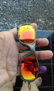 Kacamata Sunglasses Oakley Juliet X Metal Ruby Iridium Serial Number 1st  Gen Microbag 9f08079078