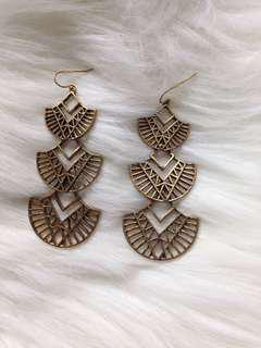 🌼Egyptian style brass earrings