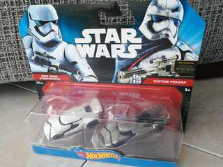 Hot Wheels Star Wars character vehicles First Order Stormtrooper and Captain Phasma