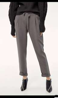 Aritzia Wilfred allant royal blue dress pants crop drawstring pant
