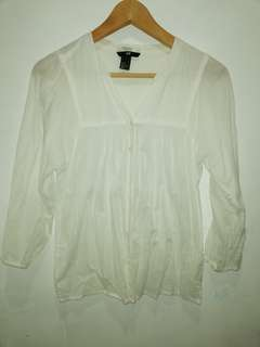 H&M  Contemporary White blouse