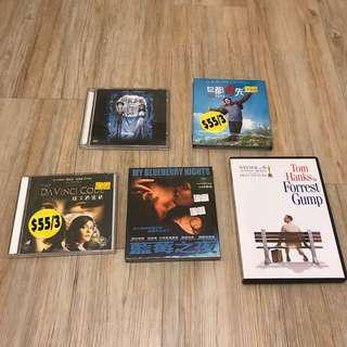 電影 Movie VCD / DVD(有全新有二手)