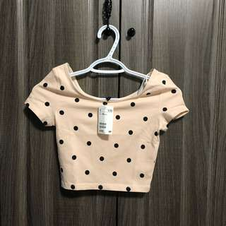 Forever 21 Polkadot Cropped Top