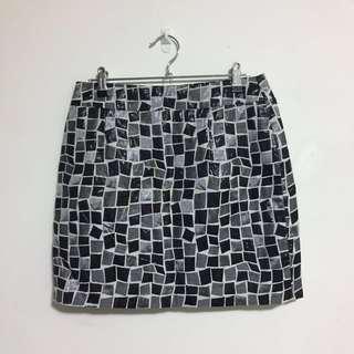 Mossman Mosaic Print Skirt
