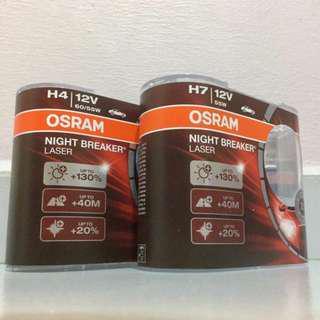 OSRAM Night Breaker Laser H4 / H7 Bulb (Twin Pack)