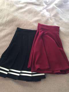 Japanese high waisted skirts
