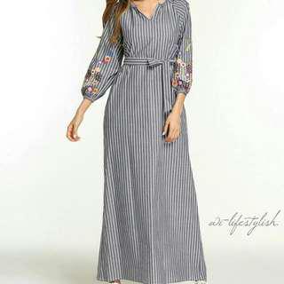 (PO) SE01 Dress / Long Sleeve / Floral