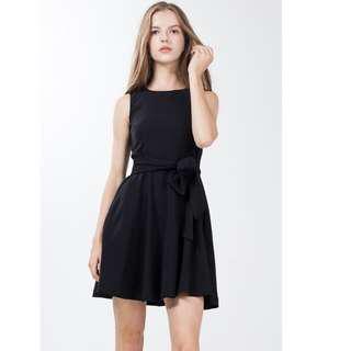 Soria Skater Dress in Black Ninth Collective Size : XS