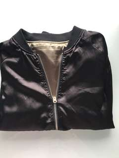 Satin reversible bomber jacket!