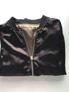 Satin reversible bomber jacket!