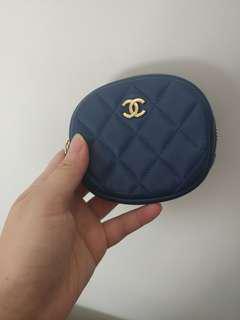 Chanel 圓形藍色Coins Bag
