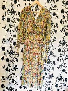 Zara Floral Maxi Dress with Inner Camisole