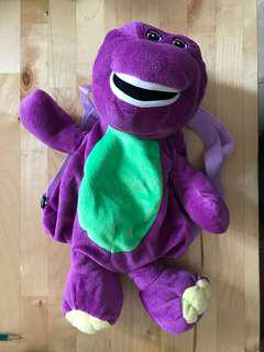 Barney soft toy bag