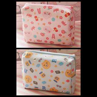 [FREE POSTAGE] Kakao Friends Beauty Toiletries Pouch Bag (Ryan / Apeach)