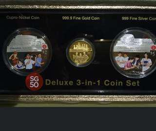SG 50 3 in 1 coin set