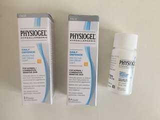Physiogel day cream & cleanser試用裝