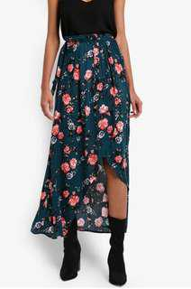Cotton On Green Floral Skirt