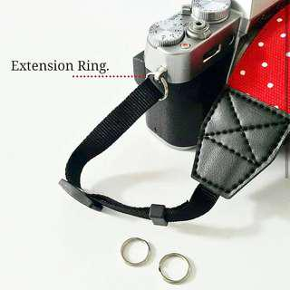EXTENSION RING CAMERA STRAP