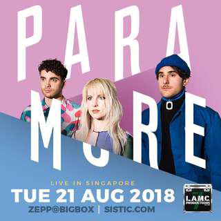 1 Paramore ticket 2018