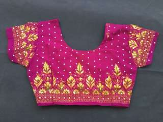 Purple Ethnic Blouse or Top for Girls