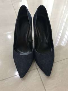 Charles & Keith Denim Pointed Heels