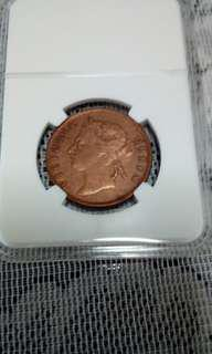 Straits Settlement one cent (1901) special