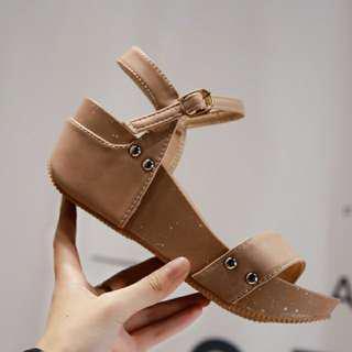 Korean wedge sandals