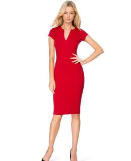 Red Atmos & here dress