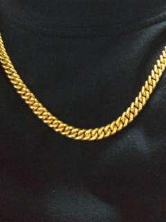 24k 999 Pure gold necklace/chain
