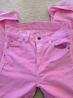 Cheap Monday Neon Pink High Waisted Jeans