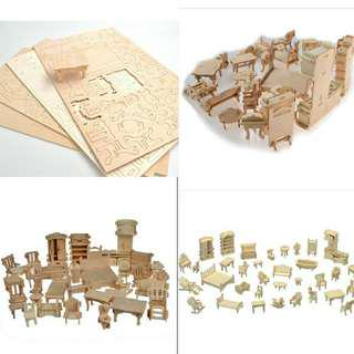 Wooden Dollhouse Jigsaw Puzzle