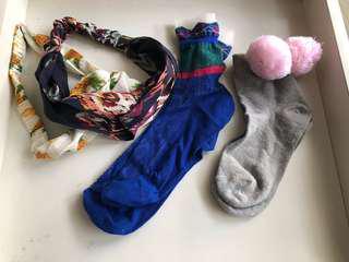 🚚 🌼夏天到了 日韓系 襪襪 髮帶🌼