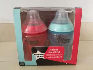 Tommee Tippee Closer to Nature Colour My World 4 Feeding Bottles