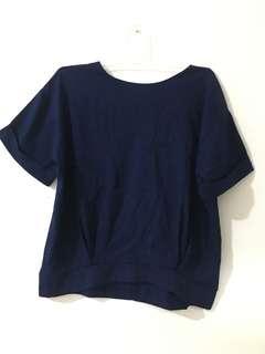 Macadamia navy shirt
