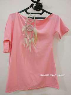 Off Shoulder Top /  Asimetris Top/ Sabrina Top / Pink Shirt | #Kemeja50