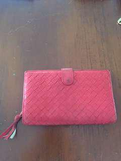 Bottega Veneta Red Medium Wallet