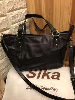 🚚 SiKa手提肩背斜背真牛皮多功能包包