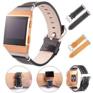 FITBIT IONIC REPLACEMENT STRAP - NEW LUXURY LEATHER BAND BRACELET WATCH BAND