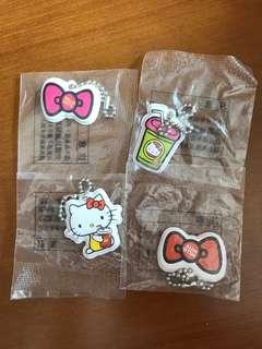 全新 Hello Kitty 雙面掛飾 一套4款